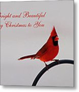 A Bright And Beautiful Merry Christmas To You Metal Print