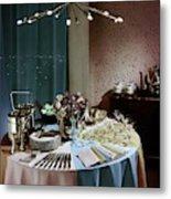 A Buffet Table At A Party Metal Print