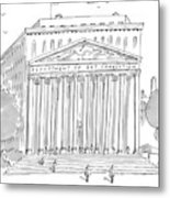 A Building In Washington Dc Is Shown Metal Print by Michael Crawford