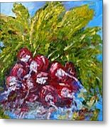 A Bunch Of Radishes Metal Print by Barbara Pirkle