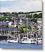 A Busy Harbour And Waterfrontkinsale Metal Print