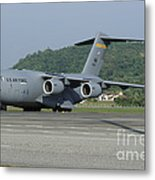 A C-17 Globemaster IIi Of The U.s. Air Metal Print