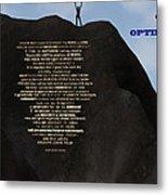 A Call To Optimism Metal Print