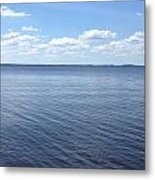 A Calm Pamlico Sound Metal Print by Joan Meyland