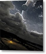 A Campfire In A Peaceful Night Metal Print