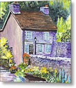 A Castleton Cottage In Uk Metal Print