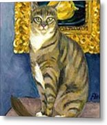A Cat And Eduard Manet's The Lemon Metal Print