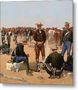 A Cavalryman's Breakfast Metal Print