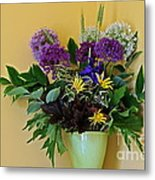 A Chanticleer Spring Bouquet Metal Print