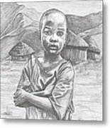 A Child Of Africa Metal Print by Beverly Marshall