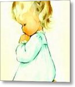 A Childs Prayer Metal Print by Charlotte Byj