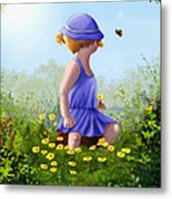 A Child's Thoughts Metal Print