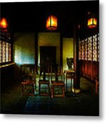 A Chinese Scholar's House Metal Print