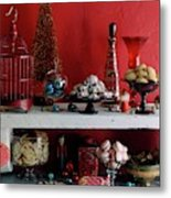 A Christmas Display Metal Print