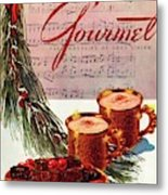 A Christmas Gourmet Cover Metal Print