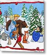 A Christmas Scene 2 Metal Print by Sarah Batalka