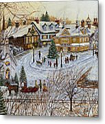 A Christmas Village Metal Print by Doug Kreuger