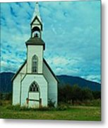 A Church In British Columbia   Metal Print