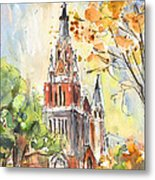 A Church In Our Street In Budapest Metal Print