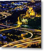 A City's Heartbeat Metal Print