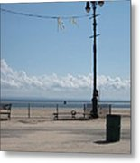A Clear Cool Spring Morning By The Shore Metal Print