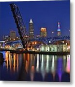 A Cleveland Ohio Evening On The River Metal Print
