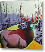A Close Encounter In Yellowstone Metal Print