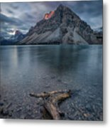 A Cloudy Day In Bow Lake Metal Print