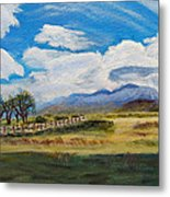 A Cloudy Day On Antelope Island Metal Print