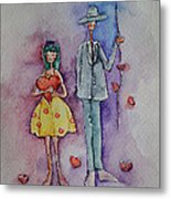 A Clumsy Love Metal Print