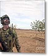 A Coalition Force Member Looks For Air Metal Print
