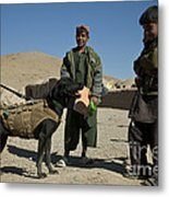 A Coalition Forces Military Working Dog Metal Print