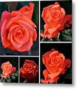 A Collage Of Pink Metal Print