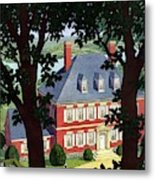 A Colonial Manor House Metal Print