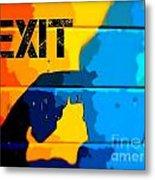 A Colorful Exit  Metal Print