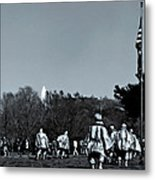 A Combat Patrol Heads For The Woods Metal Print