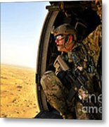 A Combat Rescue Officer Conducts Metal Print