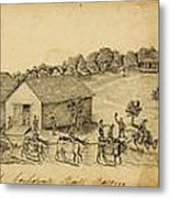 A Confederate Bull Battery Previous To The Battle Of Bull Run Metal Print