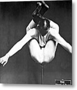 A Contortionist On A Pedestal Metal Print