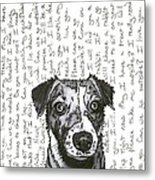 A Conversation With A Jack Russell Terrier Metal Print