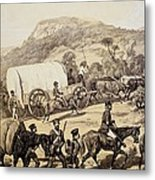 A Convoy Of Wagons Metal Print