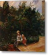 A Corner Of The Garden At The Hermitage Metal Print