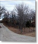 A Country Driveway Near The Brazos River Metal Print