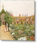 A Country Garden At Bray, Berkshire Metal Print