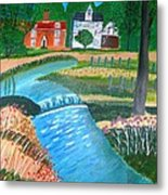 A Country Stream Metal Print