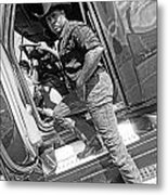 A Cowboy And His Truck Metal Print