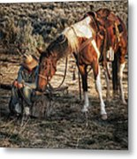 A Cowgirls Best Friend Metal Print