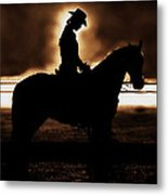 A Cowgirls Prayer Evening Ride Metal Print