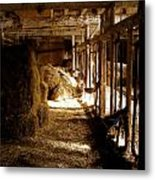 A Cozy Barn Metal Print