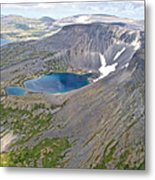 A Crater Lake From The Seaplane In Katmai National Preserve-alaska  Metal Print